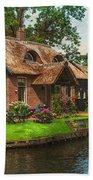 Fairytale House. Giethoorn. Venice Of The North Bath Towel