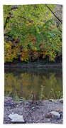 Fall Along The Scioto River Bath Towel