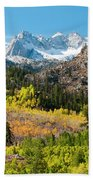 Fall Aspen Below The Sierra Crest Bath Towel