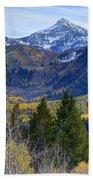 Fall At Cascade Peak And Sundance From Alpine Loop  Bath Towel