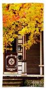Fall Canopy Over Victorian Porch Bath Towel