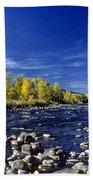 Fall Colors Along The Naches River Bath Towel
