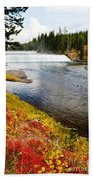 Fall Colors And Waterfalls Bath Towel