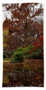 Fall Colors In The Garden Bath Towel
