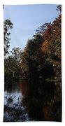 Fall Colors In The Swamp Bath Towel