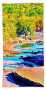 Fall Drought @ Ashokan Bath Towel