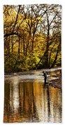 Fall Fishing Hand Towel