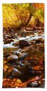 Fall Flow At Mcgee Creek Bath Towel