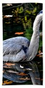 Fall Foliage And Fowl Bath Towel