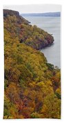 Fall Foliage On The New Jersey Palisades II Bath Towel