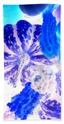 Fall Gourds Blues Hand Towel