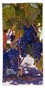 Fall Grape Harvest Bath Towel