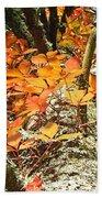 Fall Ivy On Pine Tree Hand Towel