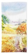Fall Landscape Briones Park California Bath Towel
