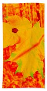 Fall Maple Bath Towel