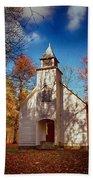 Fall Morning At Palmer Chapel In Cataloochee Hand Towel