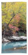 Fall On The River Bath Towel