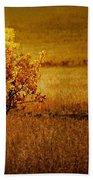 Fall Tree And Field #2 Bath Towel
