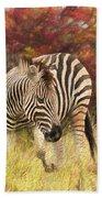 Fall Zebra Bath Towel