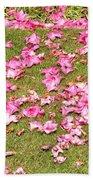 Fallen Rhododendron Bath Towel