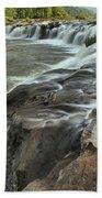 Falling Across The New River Bath Towel