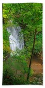 Falling Foss Waterfall In North York Moors National Park Bath Towel