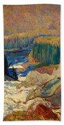 Falls - Montreal River Bath Towel