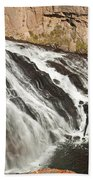 Falls On The Gibbon River In Yellowstone National Park Bath Towel