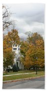 Autumn Trees At The Roadside Bath Towel