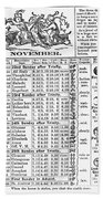 Family Almanac, 1874 Hand Towel