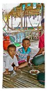Family In Countryside Outside Of Siem Reap-cambodia Bath Towel