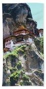 Famous Tigers Nest Monastery Of Bhutan 7 Bath Towel