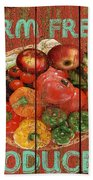 Farm Fresh Produce Bath Towel