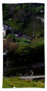 Farm Land In The Peak District In Great Britain Bath Towel