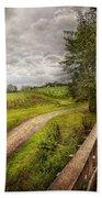Farm - Landscape - Jersey Crops Bath Towel
