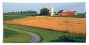 Farm Nr Mountville Lancaster Co Pa Usa Hand Towel