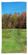Farm Road In Autumn Bath Towel