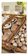 Farmers Market Mushrooms Bath Towel