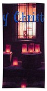 Farolitos Or Luminaria Below Window 1-2 Bath Towel