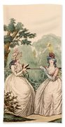 Fashion Plate Of Ladies In Summer Day Bath Towel