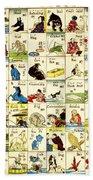 Fashionable Melange Of English Words 1887 Bath Towel
