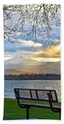 Favorite Bench And Lake View Bath Towel