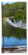 Feather And Fence Bath Towel