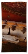 Feather And Leather Bath Towel