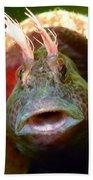 Feather Blenny - A Fish  Bath Towel