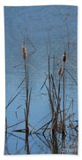 February Cattails Bath Towel