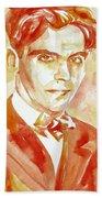 Federico Garcia Lorca Portrait Bath Towel