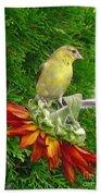 Female American Goldfinch Bath Towel