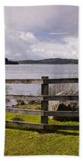 Fence At Kielder Water Bath Towel