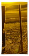 Fence Post In The Morning Light Bath Towel